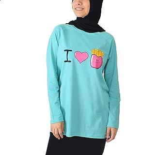 NAS Trends T-Shirt Full Sleeve For Women - Turquoise