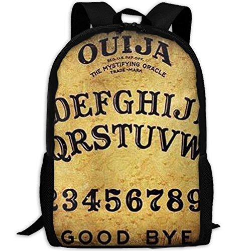 VNFDAS Laptop-Rucksack, gefährliches magisches Spiel, Ouija Brett, beliebtes Design, tolles Geschenk für Valentinstag, Computertasche, Schule, Rucksack für Damen und Herren