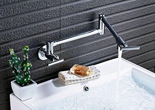 Montado en la pared plegable giratorio Grifo de agua fría con un asa giratoria escamoteable baño cocina grifos de agua