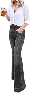 Ai.Moichien Pantalones Vaqueros Acampanados De Campana De Mezclilla para Mujer Vaqueros Pitillo De Tiro Alto Pantalones De...