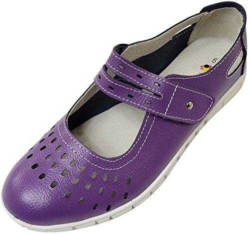 Absolute Footwear , Mocassins pour Femme - Violet - Prune,