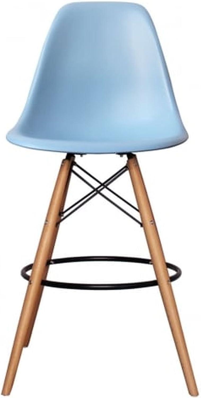 Meubles House ST-PC-16WH-LB Kitchen Island Charles Eames Style Eiffel Leg Bar Stool 27 ,  (Light bluee)