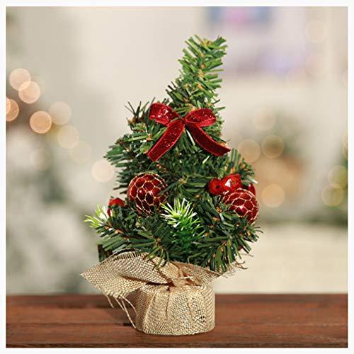 Lucidting Mini Decoraciones De Escritorio De Árbol De Navidad Azabu arbolito Rojo