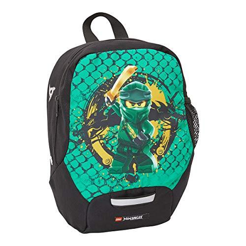 BBM Bags Kindergarten Rucksack, Leichter Kinderrucksack, Vorschulrucksack mit BBM NINJAGO Green Motiv, Kita Rucksack in Grün, großes Hauptfach und Mesh Seitentasche, mit Brustgurt und Namensschild