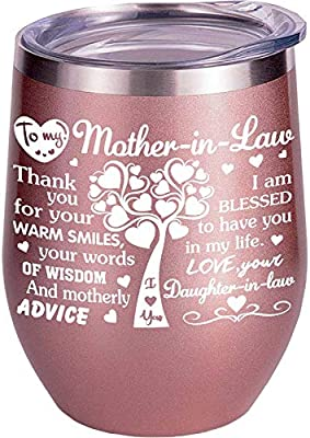 Mother In Law Gifts From Daughter In Law | Son | Bride | Wedding | Mothers Day | Mug | Wine Glass | Cup | Christmas