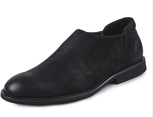 GLSHI Hommes Oxford Brogue Affaires Chaussures Décontracté British Retro Chaussures Homme Chaussures Haute Qualité Authentiques Sets De Pieds Chaussures