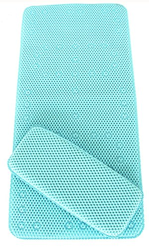 BBCare Non-slip&Extra Large Bath Mat with Soft Kneeler(Bath pillow)