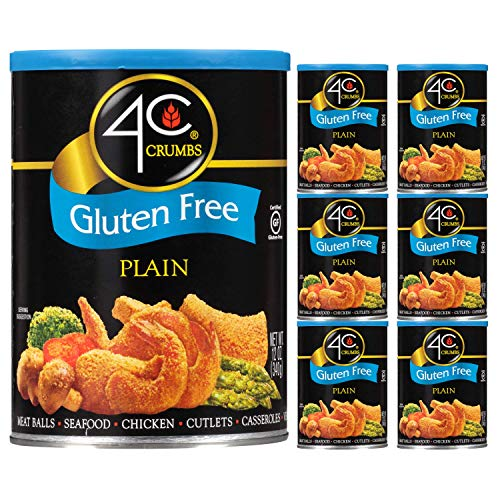 4C Premium Bread Crumbs | Regular & Gluten Free | Flavorful Crispy Crunchy | Value Pack (Gluten Free - Plain, 6pk)