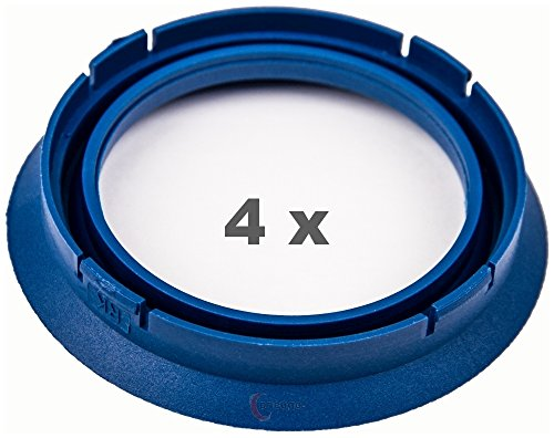 4 x pneugo! Bagues de centrage pour jantes alu 74.1 mm - 57.1 mm