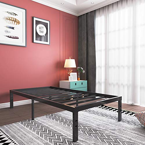 16 Inch Twin XL Platform Bed Frame- Heavy Duty Strong Steel Mattress Foundation/No Box Spring Needed Solid Bed Base/Noise Free/Non- Slipping/Squeaky Free, Twin XL