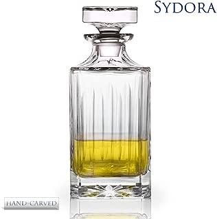 SYDORA Whiskey Decanter & Liquor Decanter - 750ml/25oz for Wine, Whisky, Bourbon, Brandy and Liquor(Dcarve)