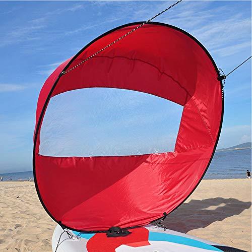 ETbotu Boot Wind Segel,42in / 108cm Segel Faltbares Kajak Sup Paddle Board Segeln Kanu Stroke Paddle Ruderboote Wind Clear Window rot