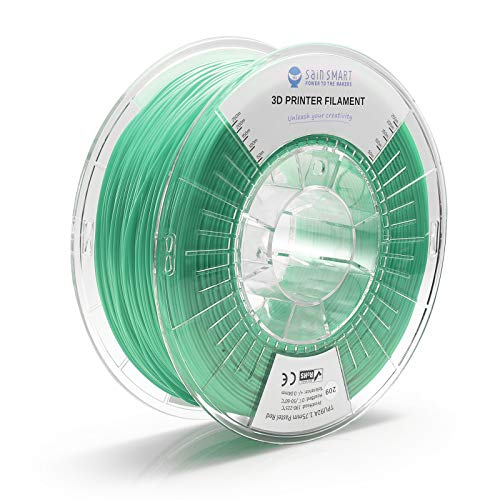 SainSmart TPU 1.75mm 92A Flexible TPU 3D Printer Filament, Dimensional Accuracy +/- 0.04 mm, 1KG, Pastel Green