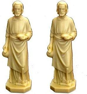 Goldfingers Gifts 2 X St Joseph Statue Home Seller Faith Saint House 3.5 Inch Figurine New