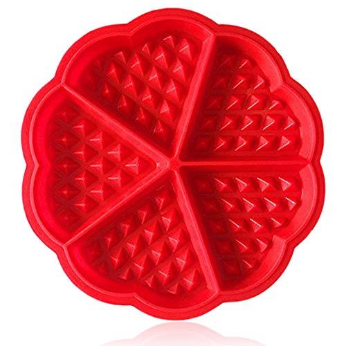 ZTSY Moules à gaufres en silicone de qualité supérieure, moules rouges en forme de petits cœurs
