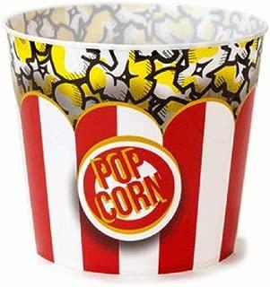 Wabash Valley Farms Nostalgic Popcorn Tub, Medium Sized Reusable Movie Theater Style Popcorn Bucket, Made with Durable Plastic