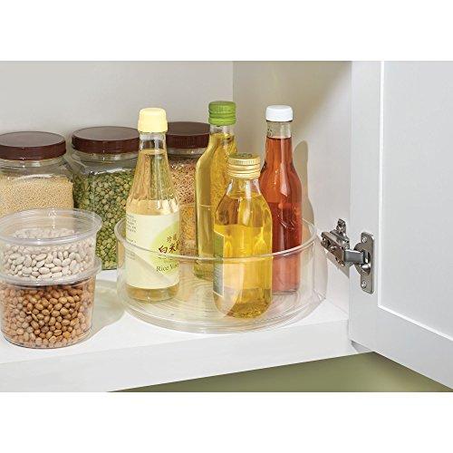 iDesign Cabinet/Kitchen Binz Drehteller, kleiner Schrank Organizer aus Kunststoff, durchsichtig
