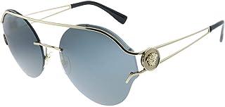 Versace occhiali da sole a specchio oro ve2184