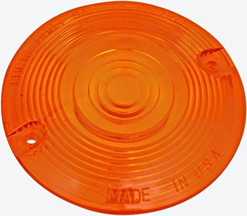 Amber Turn Signal Flat Lens Harley Heritage Softail Classic - FLSTC 1987-2014 repl. OEM# 68440-86