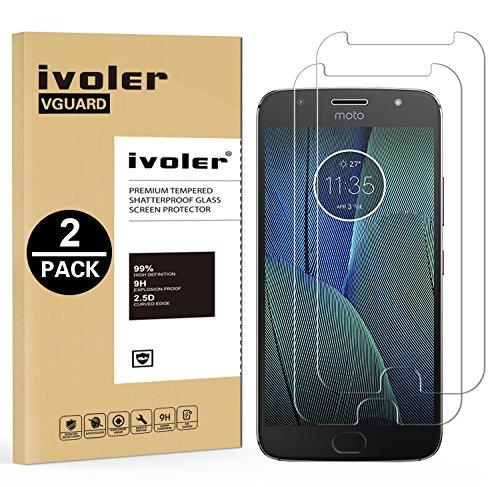 ivoler [2 Stücke] Panzerglas Schutzfolie für Motorola Moto G5S Plus [9H Festigkeit] [Anti- Kratzer] [Bläschenfrei] [2.5D R&e Kante]