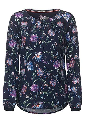 Cecil Damen Bluse mit Blumenprint deep Blue S