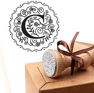 Timbro Lettera C Iniziali Timbri Lettere Alfabeto Monogramma C Idee Regalo Aziendale