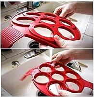 パンケーキ型メーカーノンスティックシリコンベーキング型ラウンドハートスター型卵リングマフィンパンケーキ型-HeartStar