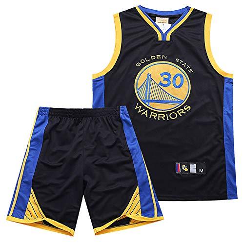 Conjunto Camiseta Sin Mangas y Pantalones Cortos Baloncesto Estilo NBA para Hombre, Camiseta Entrenamiento Baloncesto, Chándal Fitness, Uniforme Baloncesto,Negro,L