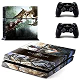 FENGLING Gioco Monster Hunter World Ps4 Skin Sticker Decal per Sony Playstation 4 Console e 2 Controller Ps4 Skin Sticker Vinile