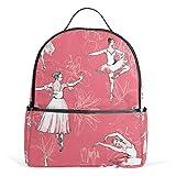 TIZORAX Ballerinas Ballett Mädchen Hintergrund Laptop Rucksack Casual Schulter Tagesrucksack für Studenten Schultasche Handtasche – leicht