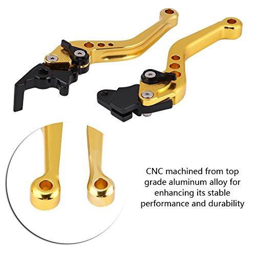 "Duokon Kupplungshebel Motorrad, 1 Paar 22mm bremshebel motorrad 7/8\""CNC Aluminium Motorrad Kupplungshebel Bremshebel Universalbremshebelgriff(Gold)"
