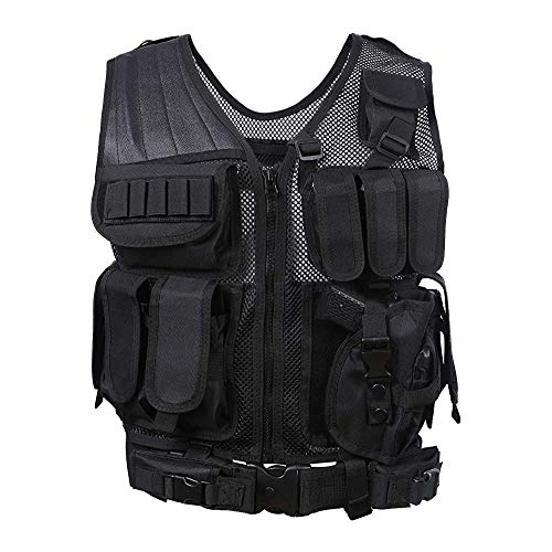 guangfan Tactical Vest, Outdoor Adjustable, Combat Training Vest, Modular Assault Vest, Light and Breathable, 600D, Used for Games and Training