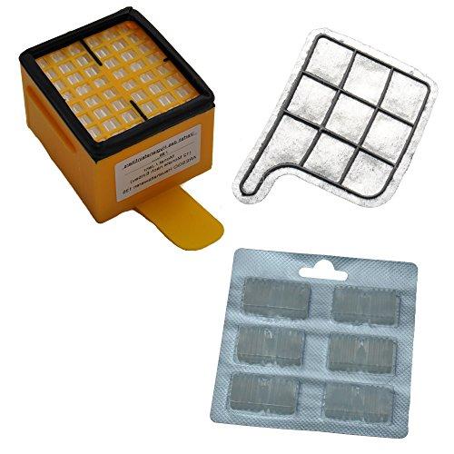 Set de filtre convient pour Vorwerk 135, 136 contient 1 micro-filtre d'hygiène HEPA, 1 micro-filtre charbon pour moteur, 6 encens antiodeurs