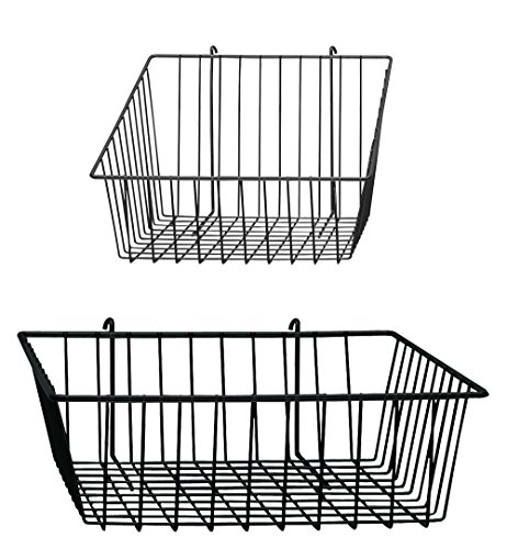 GridWall and Wire Grid Baskets Bundle - 4 Baskets Included