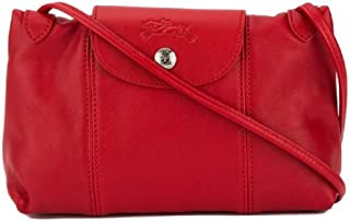 Women's Leather Le Pliage Cuir Crossbody Bag Red