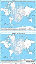 SET OF PRACTICE OUTLINE MAP OF WORLD POLITICAL (50 MAPS) AND PHYSICAL (50 MAPS) English