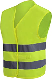 RFX+CARE Industrial Construction Safety Vest High Visibility, ANSI/ISEA Standard | Color Fluorescent Yellow | Size XL