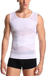 Joweechy Men Slimming Body Shaper Compression Vest Chest Tummy Control Shapewear Waist Trainer Girdle Belt Posture Correct...