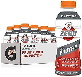 12-Pack Gatorade Fruit Punch Zero Sugar with Protein