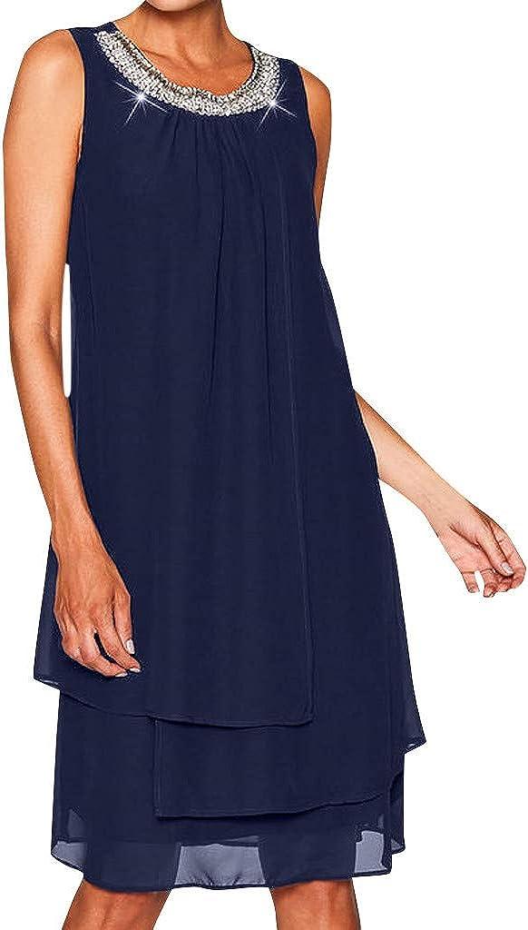 Goonidy Sequin Chiffon Summer Dress Women Elegant Ruffle Ruched Party Boho Beach Dress Casual Plus Size Vestido 2021
