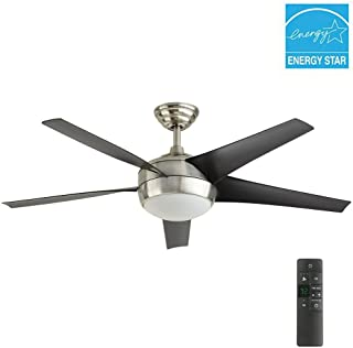 Windward IV 52 in. LED Indoor Brushed Nickel Ceiling Fan with Light Kit and Remote Control