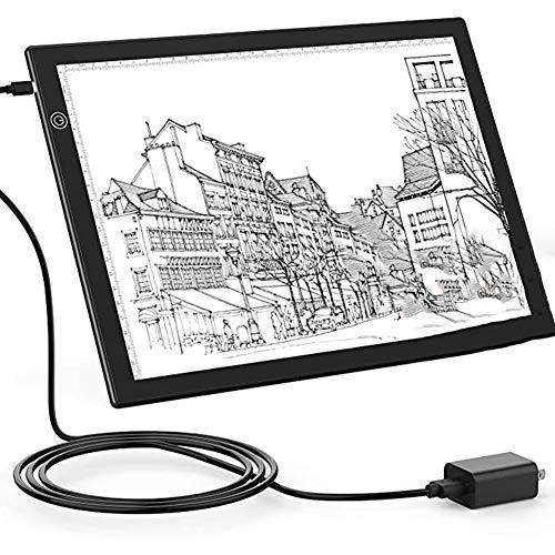 SNOWINSPRING Tragbare A4 LED Kopieren Sie Board Licht Box zum Skizzieren Von Animations Schablonen, Ultra DüNn, Typ C mit 5V 1ein