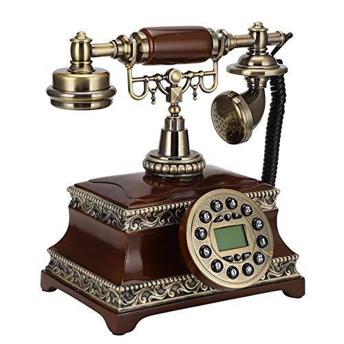 Nunafey Teléfono, Teléfono con Cable De Estilo Retro De Escritorio Vintage, Luz De Fondo para Oficina En Casa