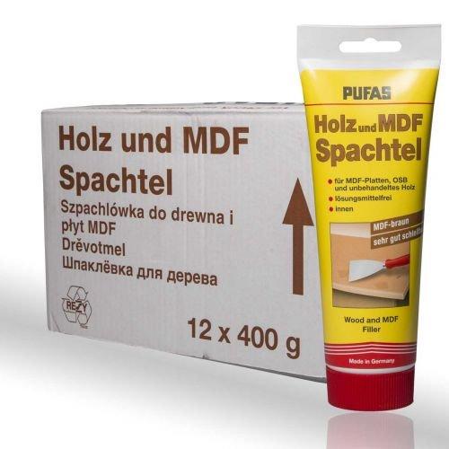 Preisvergleich Produktbild 12 x Pufas Holz-u. MDF-Spachtel 400g