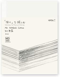 ミドリ ノート MDノート F0 コットン 15255006 ホワイト H180×W140×D11mm