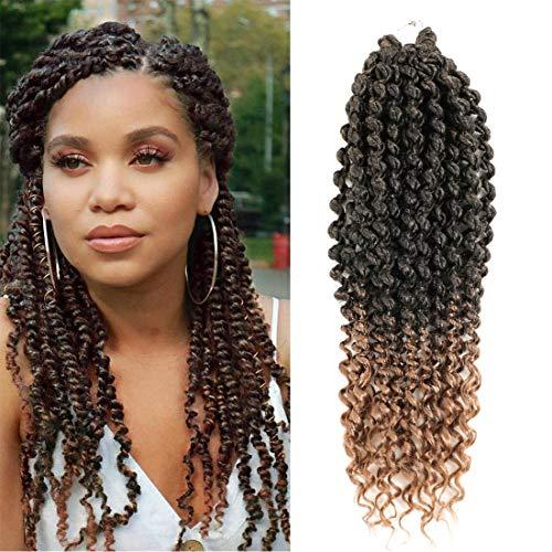 Passion Twist Crochet Hair Curl End 6er Pack Bomb Twist Crochet Hair 14-Zoll-Haarverlängerungen aus synthetischem Haar Fluffy Spring Twist Crochet Braid für schwarze Frauen(14 inch, T27)