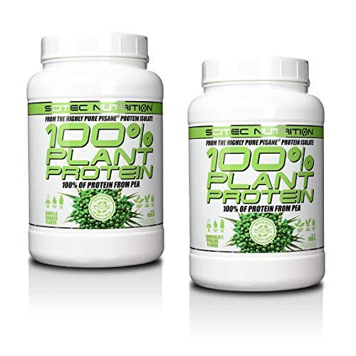 Scitec Nutrition Protein 100% Plant Protein, Schoko-Praline & Vanille-Banane, (2 x 900g) 1800g