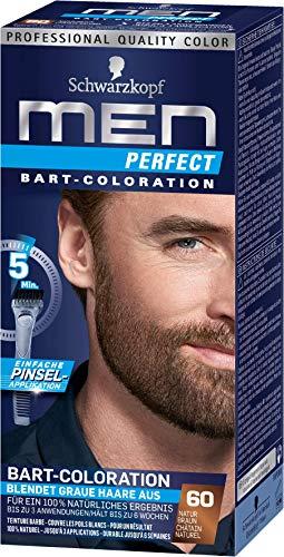 Men Perfect Bart-Coloration 60 Natur Braun Stufe 2, 3er Pack(3 x 30 milliliters)