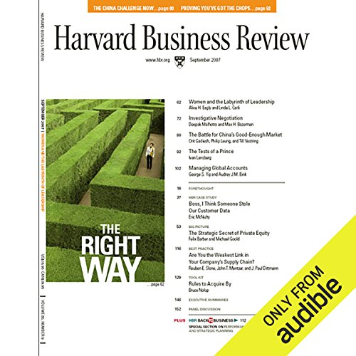 Harvard Business Review, September 2007 audiobook cover art