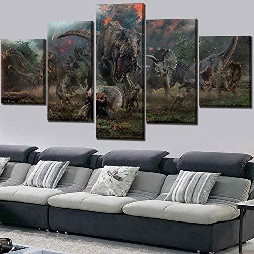 5 Stuks Muur Kunst Prints Op Canvas - Film Hoe Je Je Draak Kunt Trainen - Posters Fresco Olieverf - Schilderijen Voor Woondecoratie,20×30×2+20×40x2+20x50×1